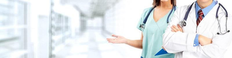 2 medical staff in hospital