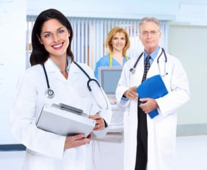 3 doctors smiling